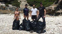 Η κόρη του Γουίλ Σμιθ έβγαλε 22 σακούλες σκουπίδια από ελληνικές παραλίες