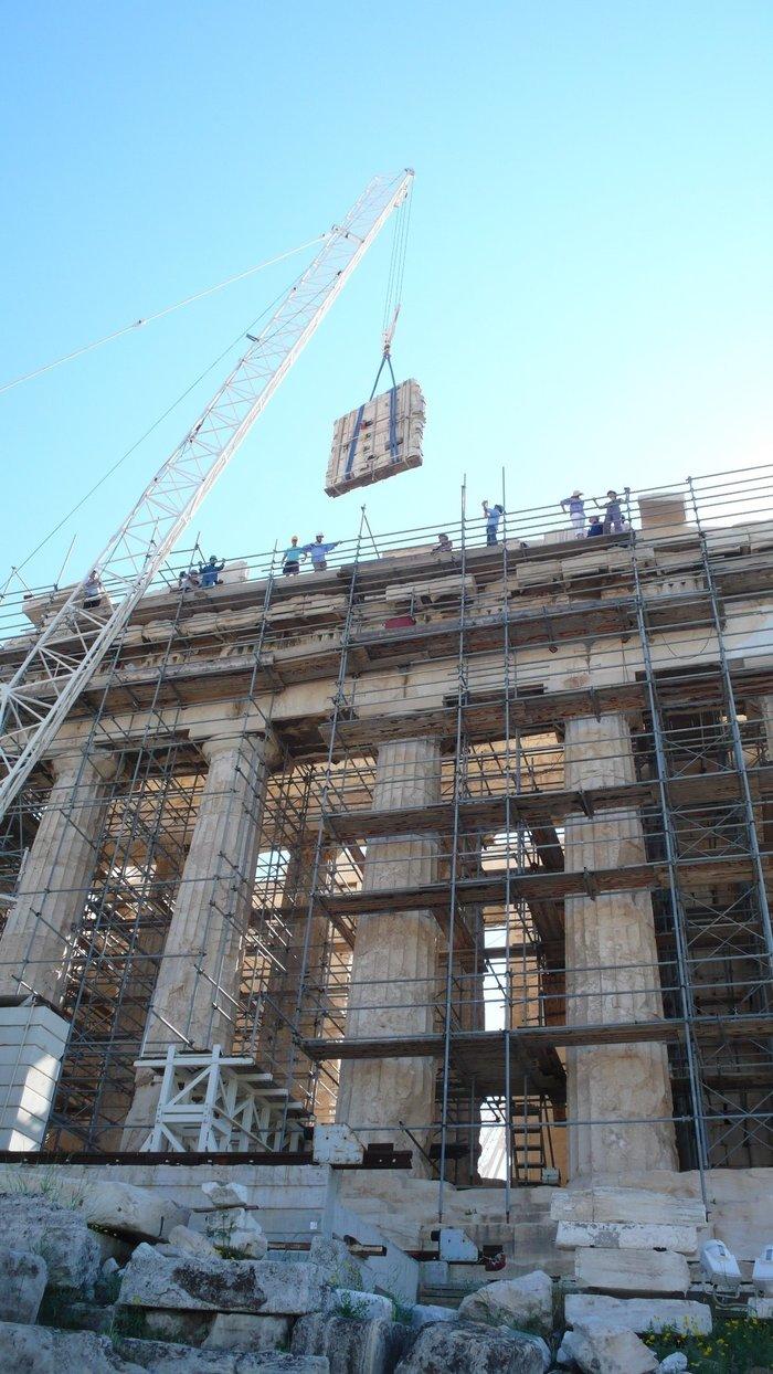 Nέα φάση εργασιών  στα μνημεία της Ακρόπολης- Εντυπωσιακές εικόνες