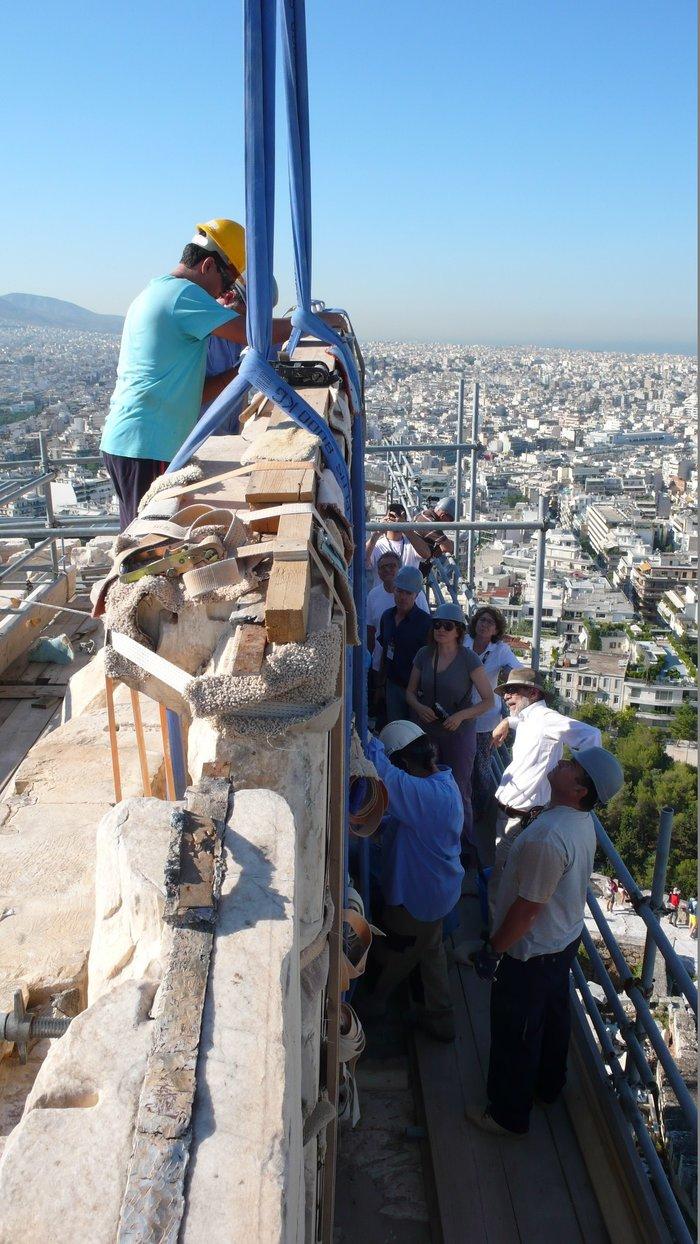 Nέα φάση εργασιών  στα μνημεία της Ακρόπολης- Εντυπωσιακές εικόνες - εικόνα 3