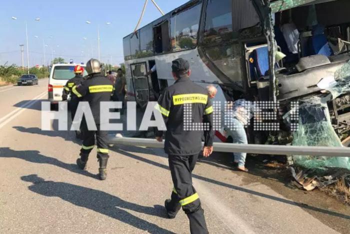 Παραλίγο τραγωδία: Τρελή πορεία λεωφορείου στην Πατρών-Πύργου