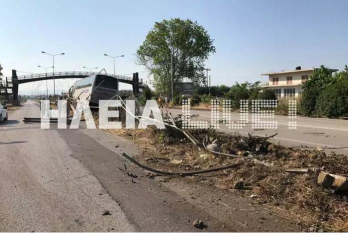 Παραλίγο τραγωδία: Τρελή πορεία λεωφορείου στην Πατρών-Πύργου - εικόνα 2