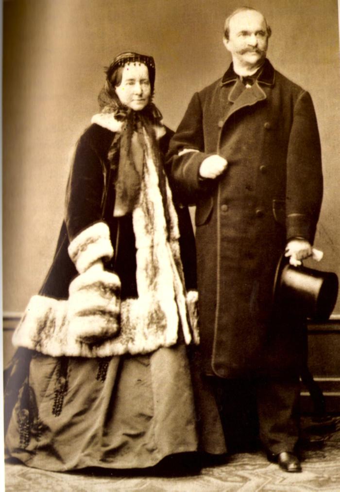 Φωτογραφία του Όθωνα και της Αμαλίας από το Atelier Albert του Μονάχου. 1867.