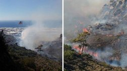 Φωτιά στην Ιεράπετρα, φόβοι για καλλιέργειες &  θερμοκήπια