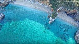 """Μυλοπόταμος Πηλίου: Το """"επίνειο της Τσαγκαράδας"""" από Drone"""