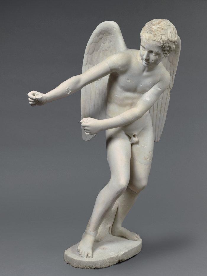 Μαρμάρινο άγαλμα του Έρωτα που τεντώνει το τόξο του2ος αι. μ.Χ.Ρώμη, Παλατίνος ΛόφοςΠαρίσι, Musée du Louvre