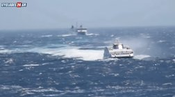 Μάχη πλοίων με τα κύματα για να δέσουν στη Φολέγανδρο