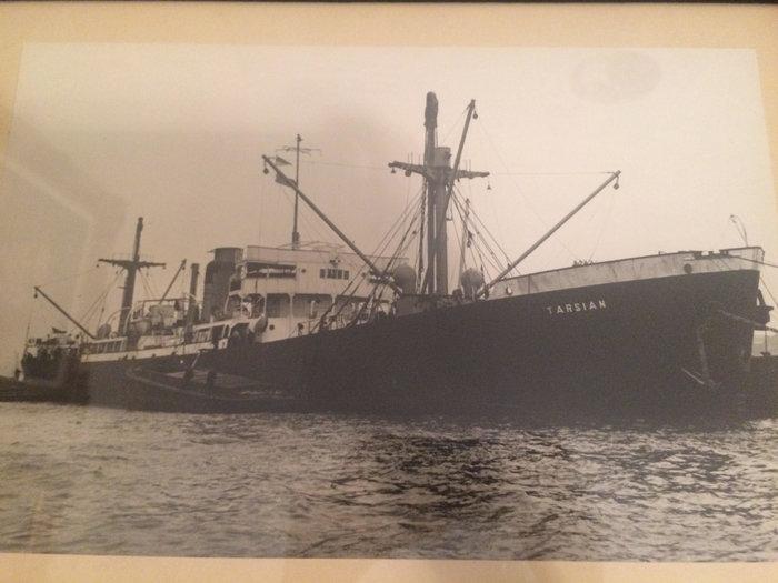 Πλοίο του Πέτρου Κυδωνιέα (φωτογραφία από το οικογενειακό αρχείο)