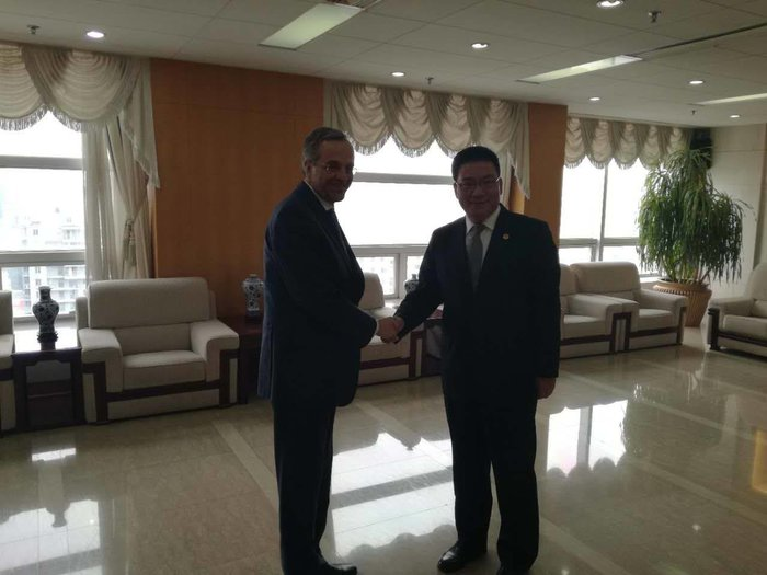 Συνάντηση Σαμαρά με τον πρόεδρο της Cosco στο Πεκίνο - εικόνα 2