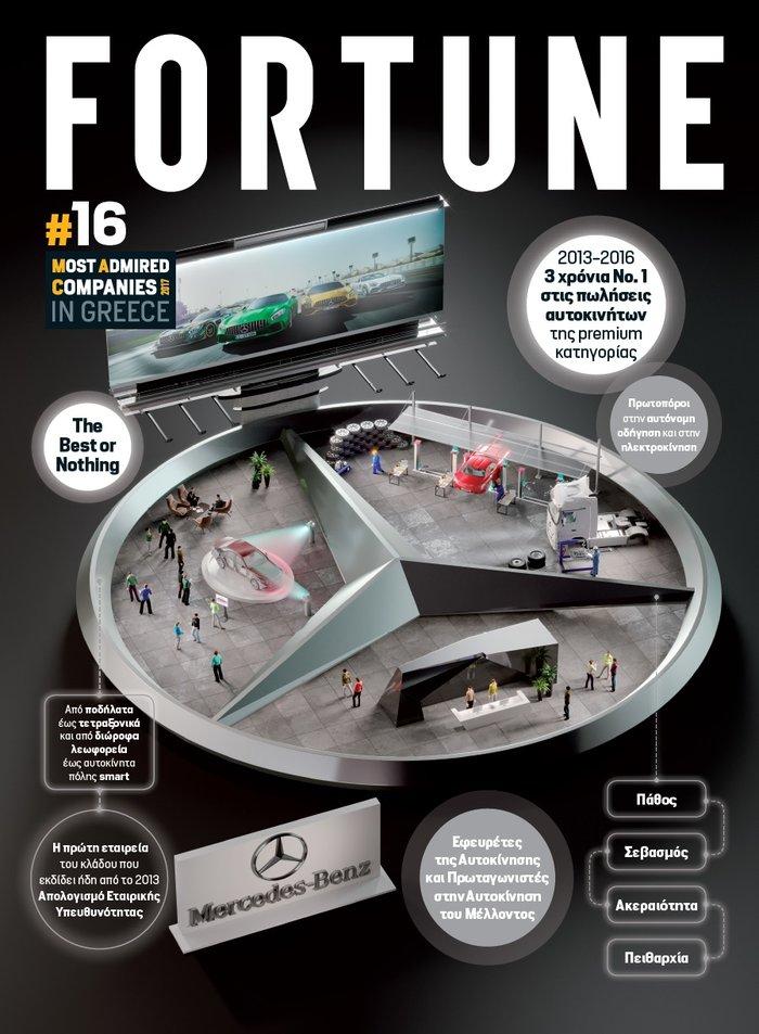 "Mercedes-Benz Ελλάς: Στo ""Top 20"" «Most Admired Companies 2017» του Fortune"
