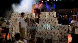 «Εχτισαν» με σαμπάνιες τραγουδιστή στο Τρίκορφο Ναυπακτίας video