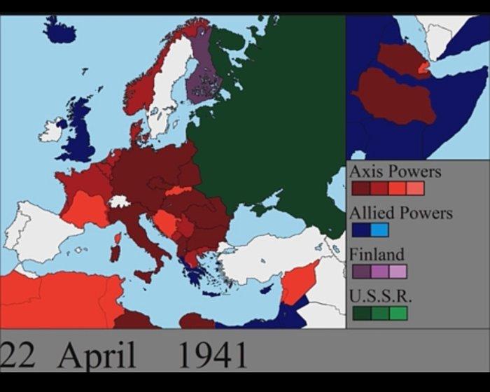 Η εξέλιξη του Β' Παγκοσμίου Πολέμου μέρα με τη μέρα -βίντεο