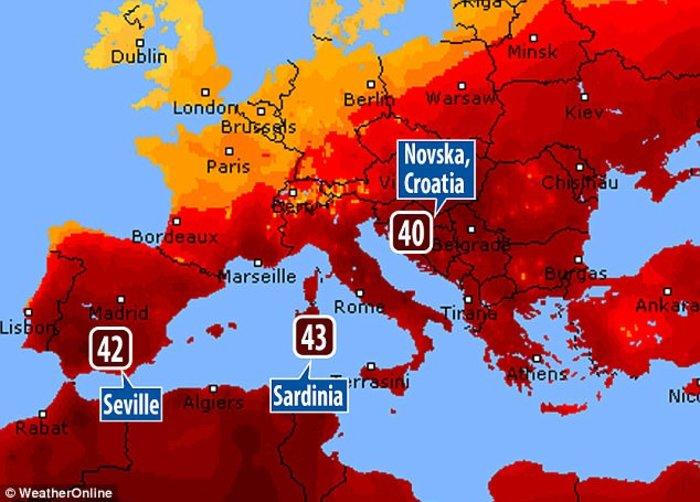 Ψήνεται η Ευρώπη:SOS για τις υψηλότερες θερμοκρασίες της 10ετίας - εικόνα 5