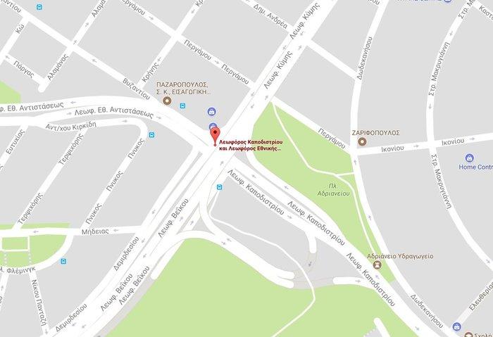 Φωτιά στο Γαλάτσι στη συμβολή των οδών Καποδιστρίου και Βεΐκου