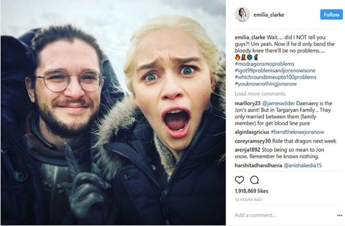 Game of Thrones: Η φωτό και η λεζάντα των 2.000.000 Like