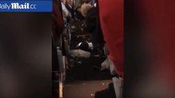 Νέο βίντεο από την πτήση τρόμου από Αθήνα προς ΗΠΑ