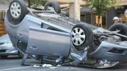 Απίστευτο: Αυτοκίνητο τούμπαρε στο κέντρο της Θεσσαλονίκης [εικόνες]