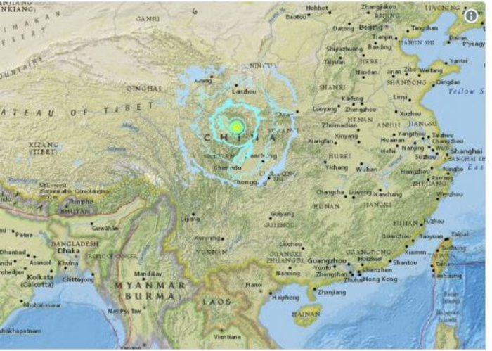 Σεισμός στην Κίνα: 9 νεκροί, 164 τραυματίες μέχρι στιγμής