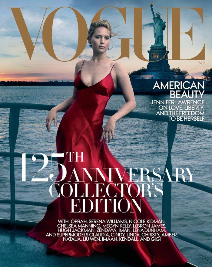 H εκρηκτική φωτογράφηση της Τζένιφερ Λόρενς για τη Vogue