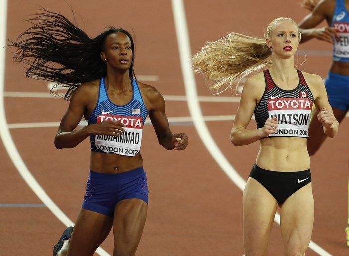 Η νίκη των πολύ μακριών μαλλιών στις νικήτριες του τελικού 400μ. Dalilah Muhammad και Sage Watson