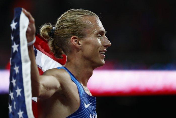 Η αλογοουρά του Evan Jager U.S. νικητή του τελικού των 3.000μ.