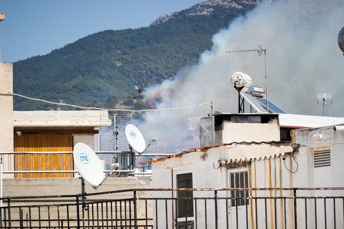 Υπό έλεγχο η φωτιά στην Καισαριάνη κοντά στο Σκοπευτήριο - εικόνα 2