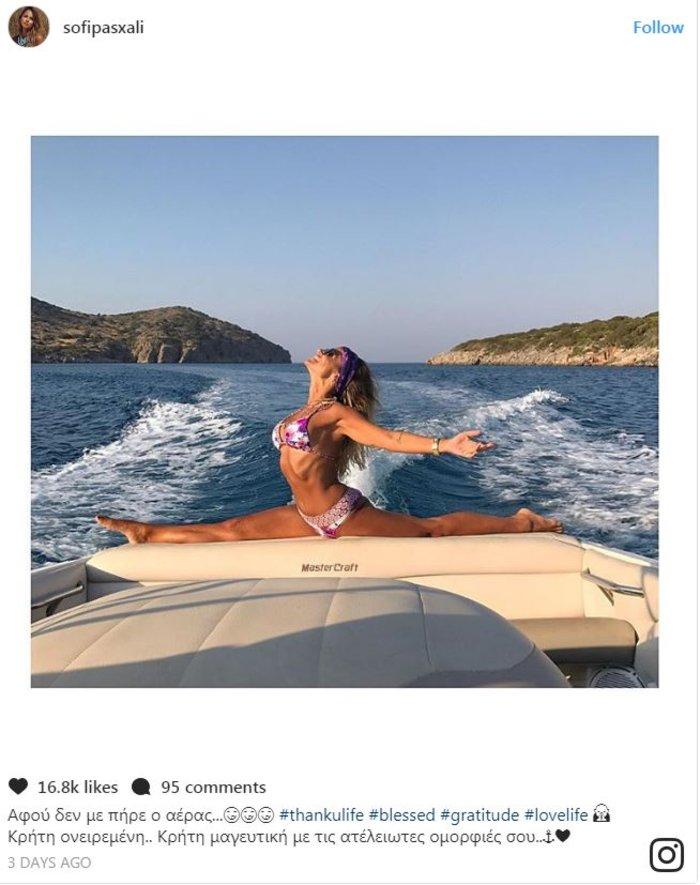 Σόφη Πασχάλη–Ελένη Πετρουλάκη: Η σέξι γυμναστική πάνω στα βράχια της Κρήτης - εικόνα 4