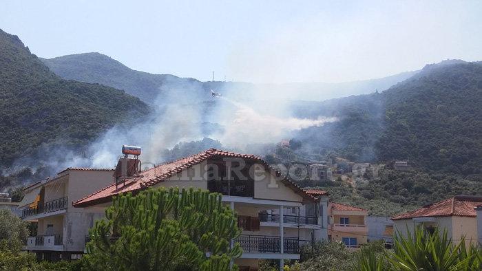 Υπό έλεγχο τέθηκε η φωτιά στα Καμένα Βούρλα πάνω από την Εθνική (ΦΩΤΟ) - εικόνα 3