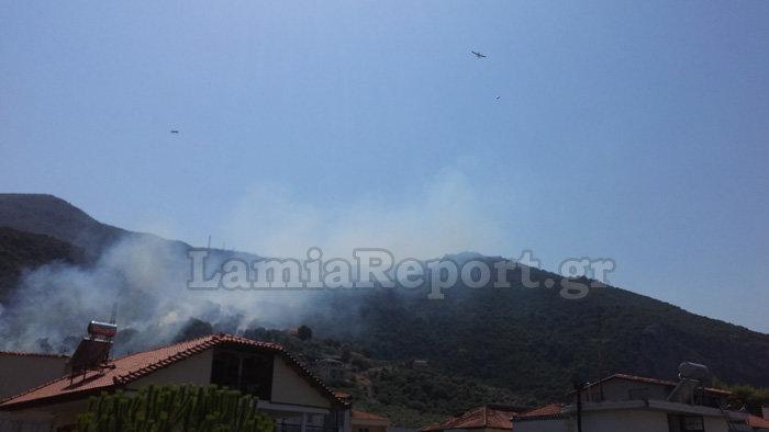 Υπό έλεγχο τέθηκε η φωτιά στα Καμένα Βούρλα πάνω από την Εθνική (ΦΩΤΟ) - εικόνα 5