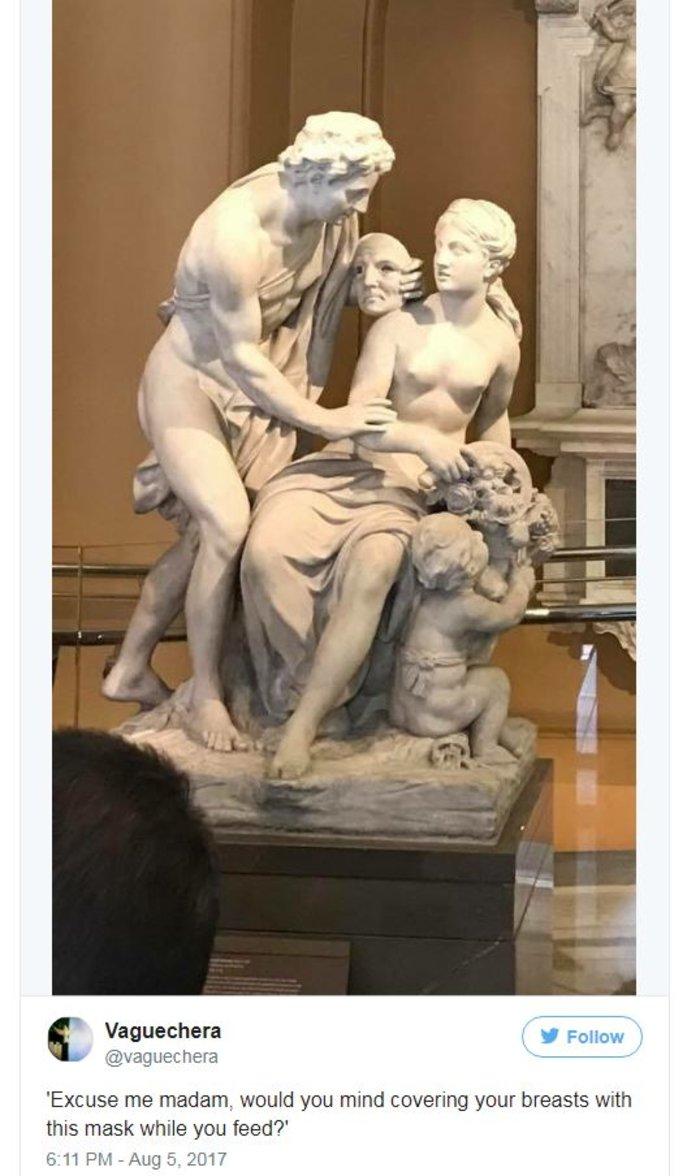Της ζήτησαν να μη θηλάζει στο μουσείο & απάντησε... κατάλληλα! - εικόνα 2