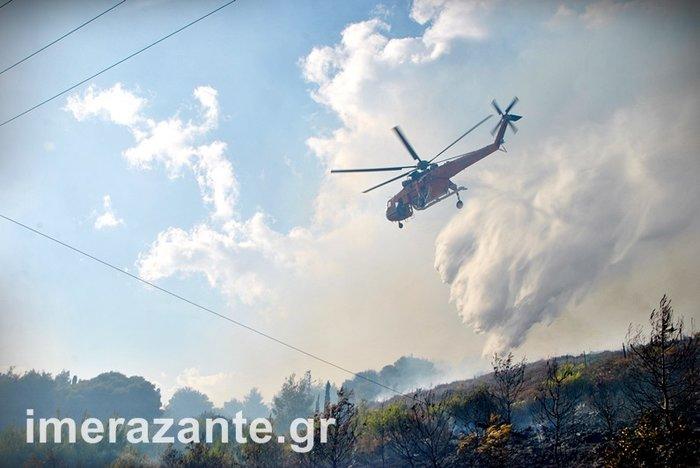 Πύρινη κόλαση για 4η ημέρα στη Ζάκυνθο- φωτιά και στην Κεφαλονιά