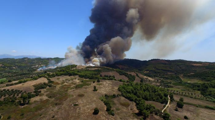 Τέσσερα τα μέτωπα της φωτιάς αυτή τη στιγμή στην Ηλεία