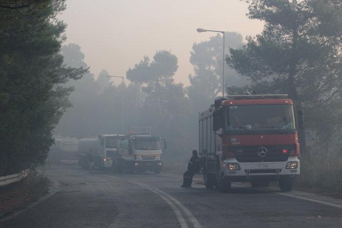 Αναζωπυρώσεις στο Καπανδρίτι, τρεις ημέρες μάχη με τις φλόγες