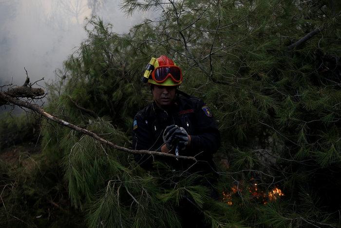 Η ανθρωπιά ενός πυροσβέστη σε μια συγκλονιστική φωτογραφία