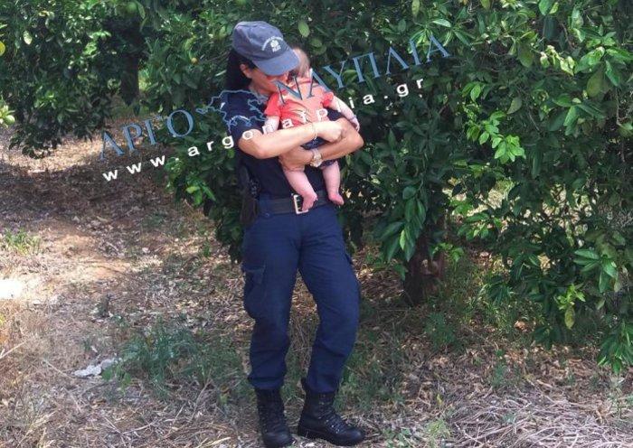Τροχαίο έξω από το Ναύπλιο–Συγκίνηση από αστυνομικό που ηρέμησε μωρό - εικόνα 3