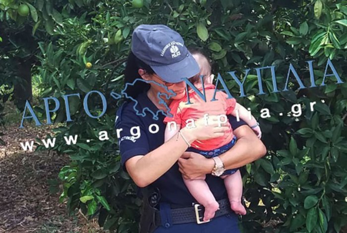 Τροχαίο έξω από το Ναύπλιο–Συγκίνηση από αστυνομικό που ηρέμησε μωρό - εικόνα 4