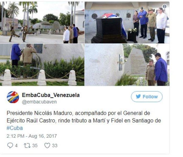 Η Βενεζουέλα φλέγεται αλλά ο Μαδούρο πήγε στον τάφο του Φιντέλ