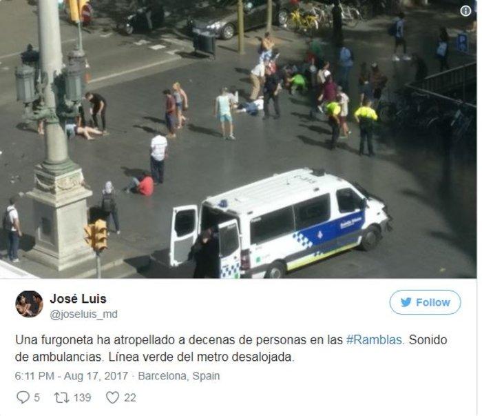 Βαρκελώνη: Τρομοκρατική επίθεση με 13 νεκρούς & 80 τραυματίες - εικόνα 5