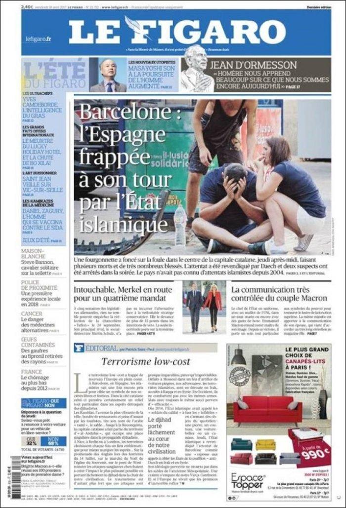 Το μακελειό στην Καταλονία μέσα από τα διεθνή πρωτοσέλιδα - εικόνα 3