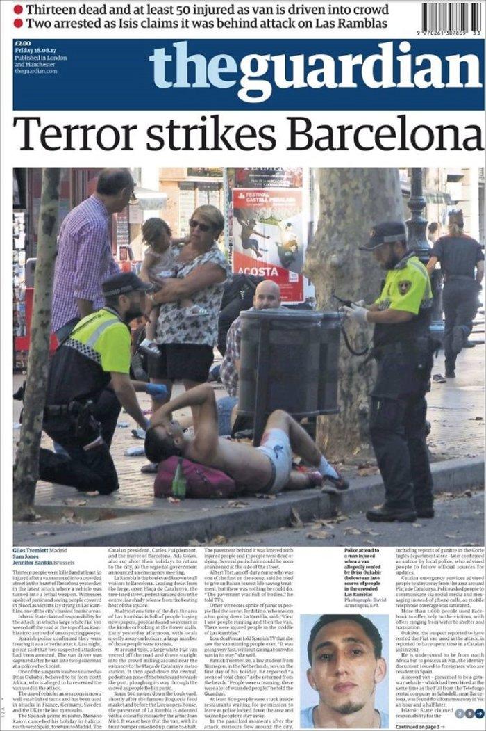 Το μακελειό στην Καταλονία μέσα από τα διεθνή πρωτοσέλιδα - εικόνα 4