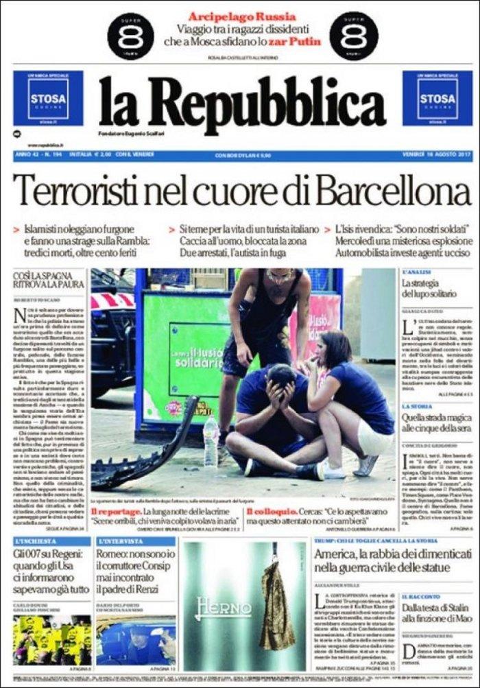Το μακελειό στην Καταλονία μέσα από τα διεθνή πρωτοσέλιδα - εικόνα 6