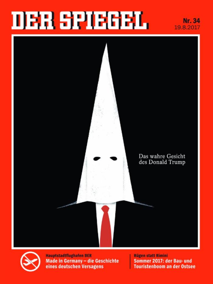 Ο Τραμπ με κουκούλα των ΚΚΚ και στο εξώφυλλο του Der Spiegel