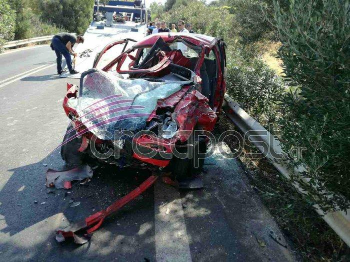 Σοκαριστικό τροχαίο με έναν νεκρό και τραυματίες στην Κρήτη