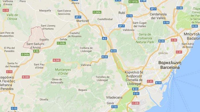 Η πόλη όπου σκοτώθηκε ο δράστης, βορειοανατολικά της Βαρκελώνης