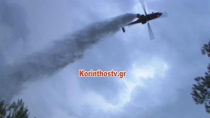Περιορίστηκε η φωτιά σε δασική έκταση στο Ρυτό Κορινθίας (φωτό)