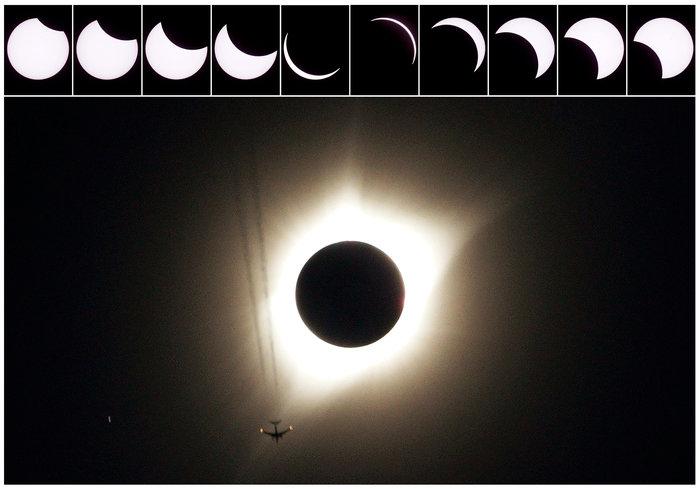 Μαγικές εικόνες του Reuters από την έκλειψη ηλίου στις ΗΠΑ