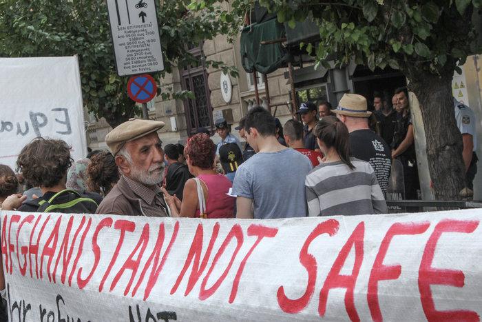 Πορεία Αφγανών και αλληλέγγυων για ίση μεταχείριση των προσφύγων