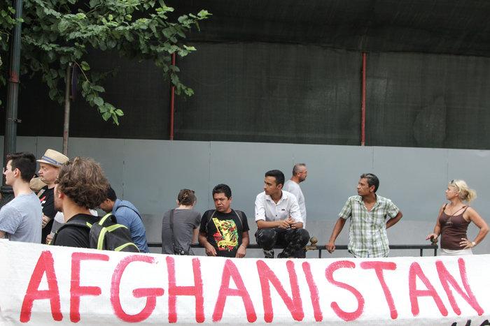 Πορεία Αφγανών και αλληλέγγυων για ίση μεταχείριση των προσφύγων - εικόνα 5