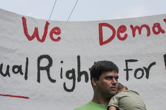 Πορεία Αφγανών και αλληλέγγυων για ίση μεταχείριση των προσφύγων - εικόνα 6