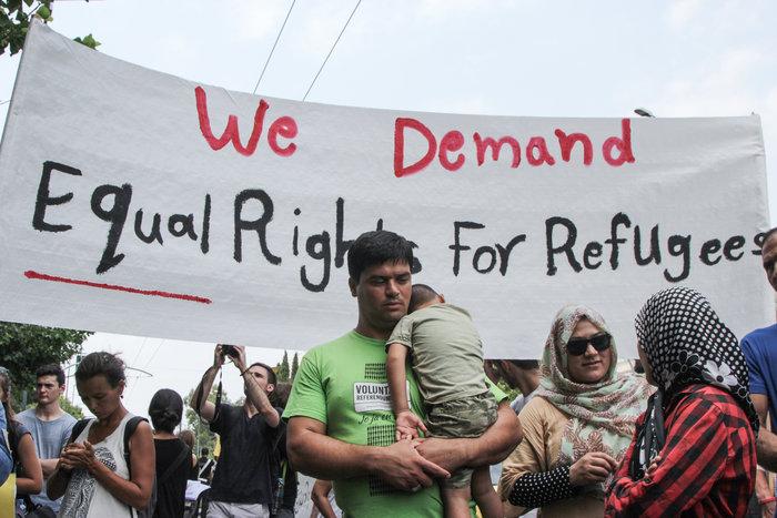Πορεία Αφγανών και αλληλέγγυων για ίση μεταχείριση των προσφύγων - εικόνα 7