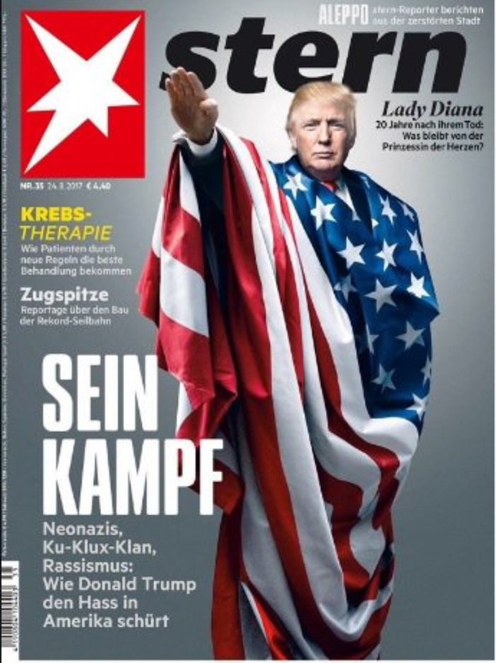 Ο Τραμπ ως Αδόλφος στο νέο εξώφυλλο του γερμανικού Stern